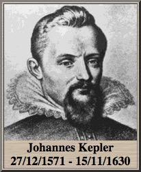 Johannes Kepler 27/12/1571 - 15/11/1630