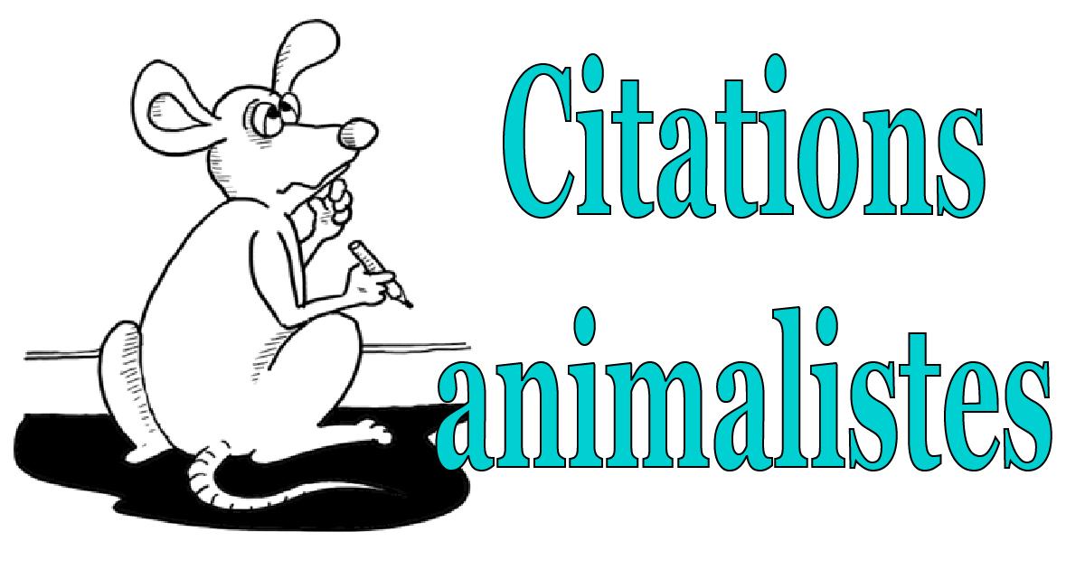 Boris Tzaprenko. Citations animalistes