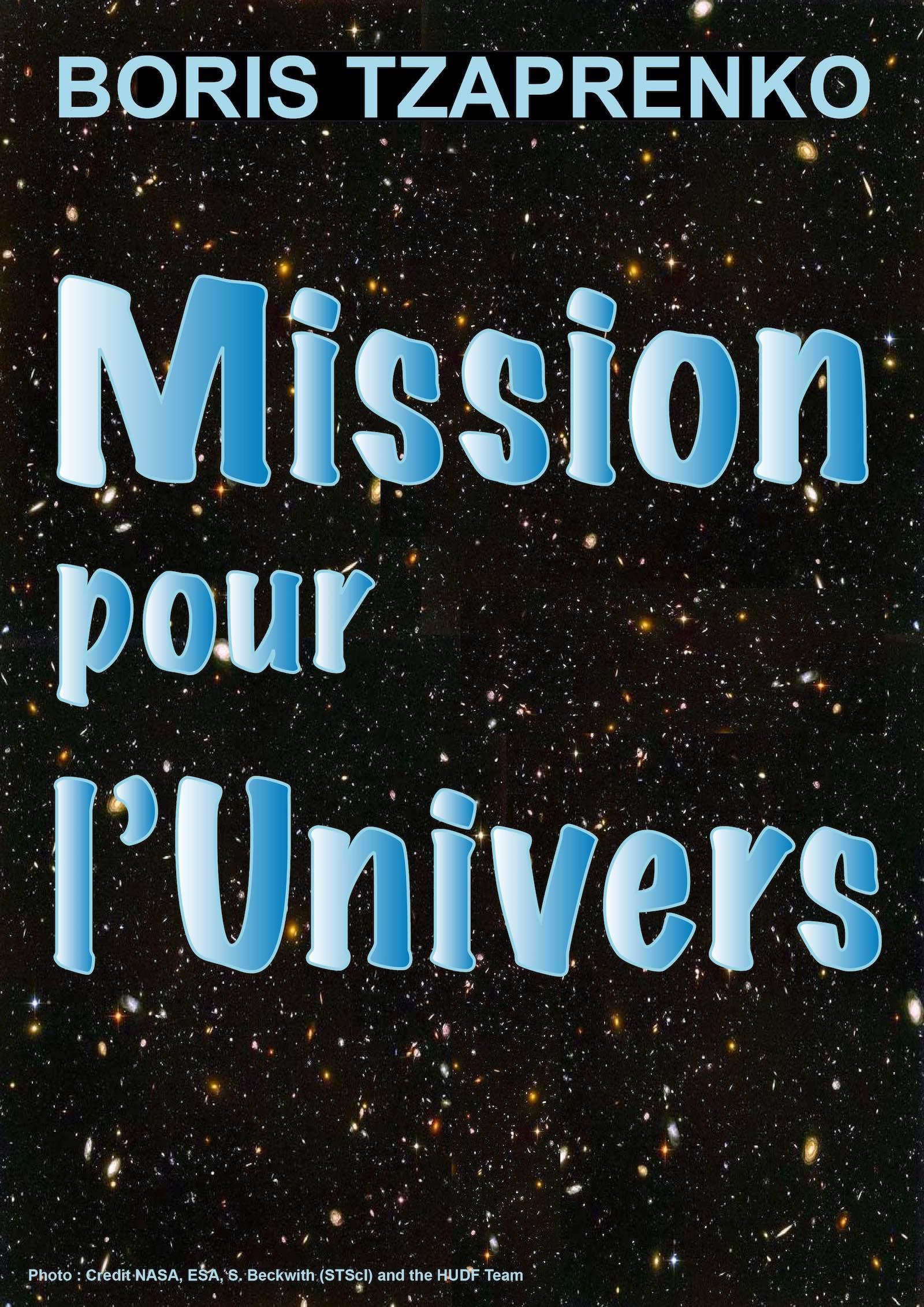 Couverture Mission pour l'Univers