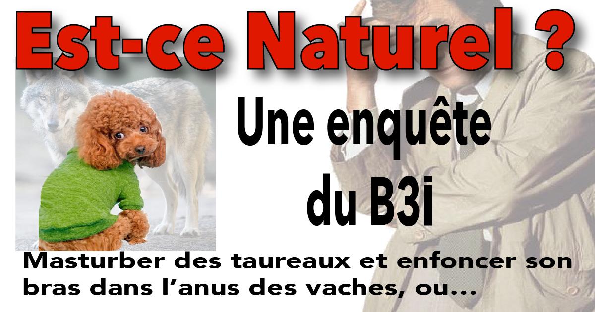 Est-ce «Naturel?